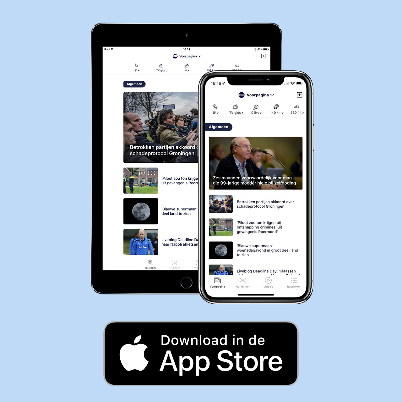 NU.nl voor iPhone, iPad en Apple Watch